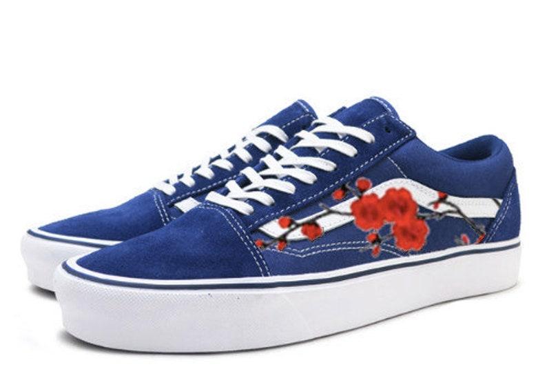 1e115575cc4 Old skool Vans embroidered Vans floral Vans Vans rose