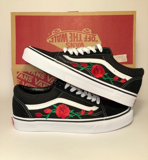 Old skool Vans custom made shoes Vans sneakers Vans rose | Etsy