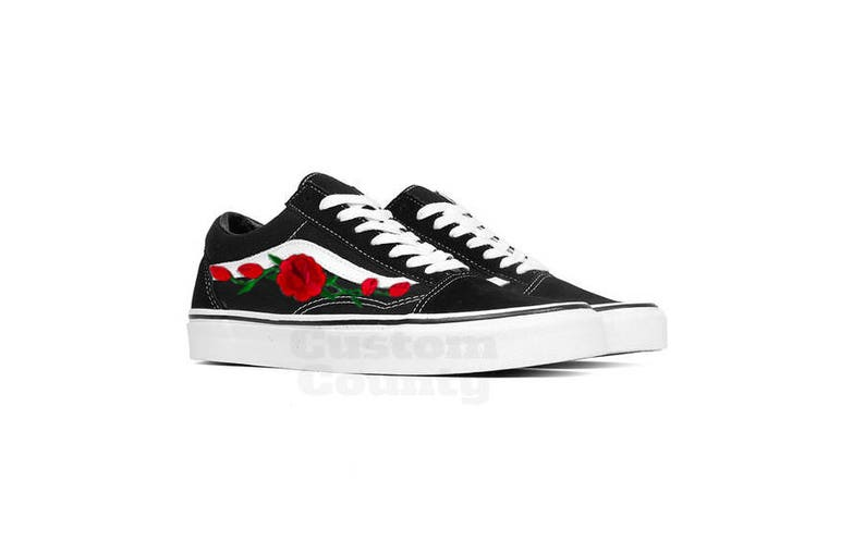 0a62b650ba Vans Rose Shoes Aesthetic Clothing Soft Grunge Custom Vans