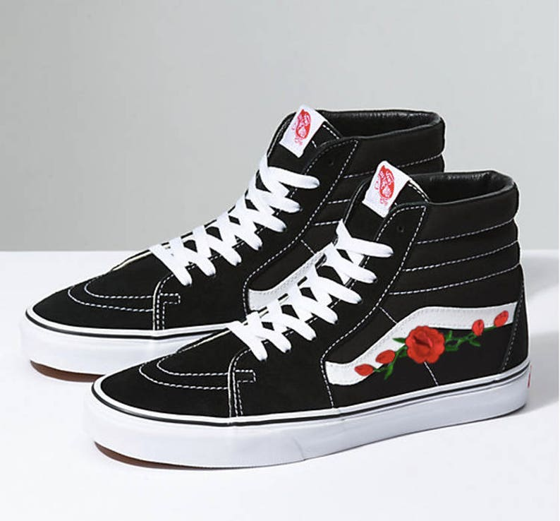 e725567a3a8e Old skool Vans custom Vans Sk8 Hi Vans old skool rose
