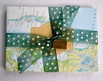 Handmade envelopes made from recycled atlas (approx 16cm x 11cm)