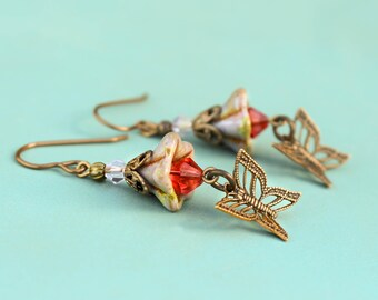 Butterfly Blossom Earrings
