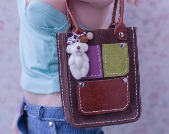 Bag With Teddy Bear for BJD / SD / 1/3
