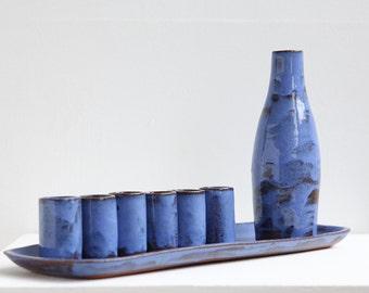 Indigo Sake Set