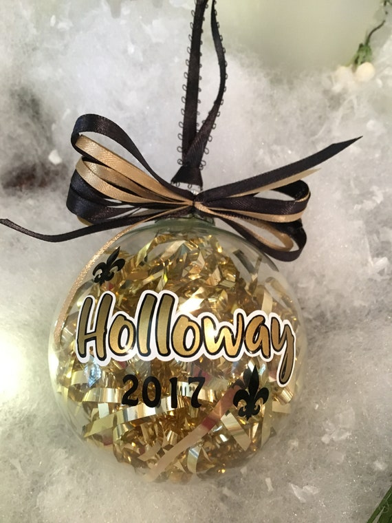 New Orleans Saints Christmas Ornaments.3 25 Custom Name New Orleans Saints Themed Tree Ornament
