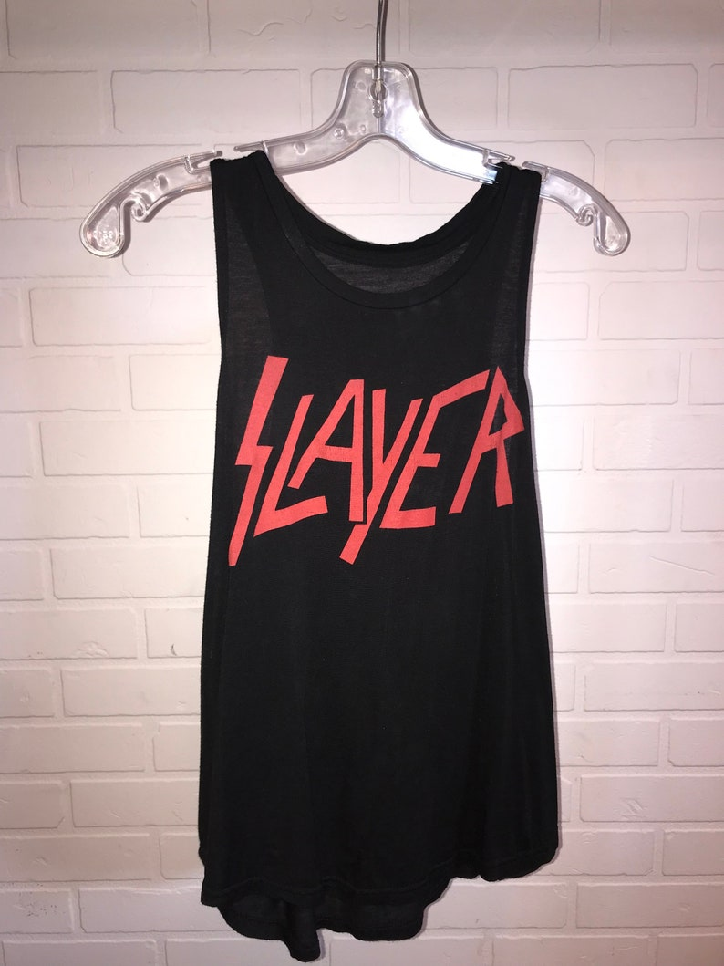 Black Tank with Red SLAYER Logo!