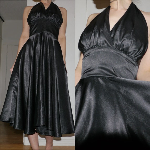 Gorgeous Pinup Couture Dixiefried Black Swing Dres