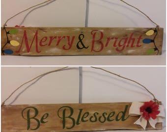 Reversible Holiday Wall Signs