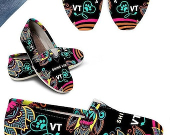3748db82ae2c7a Veterinary Technician Stethoscope Gift VTS Graduation Gift VTS Casual Shoes Veterinary  Technicians Stethoscope - Paisley - PP633
