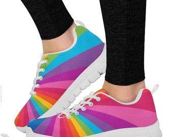 10f6fd4339ddf Rainbow Gift Rainbow Slip On/ Rainbow Shoes PP-HB-024 | Etsy