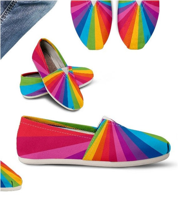 be0d585d2bb49 Rainbow Gift Rainbow Casual Shoes / Rainbow Shoes - PP-HB-025