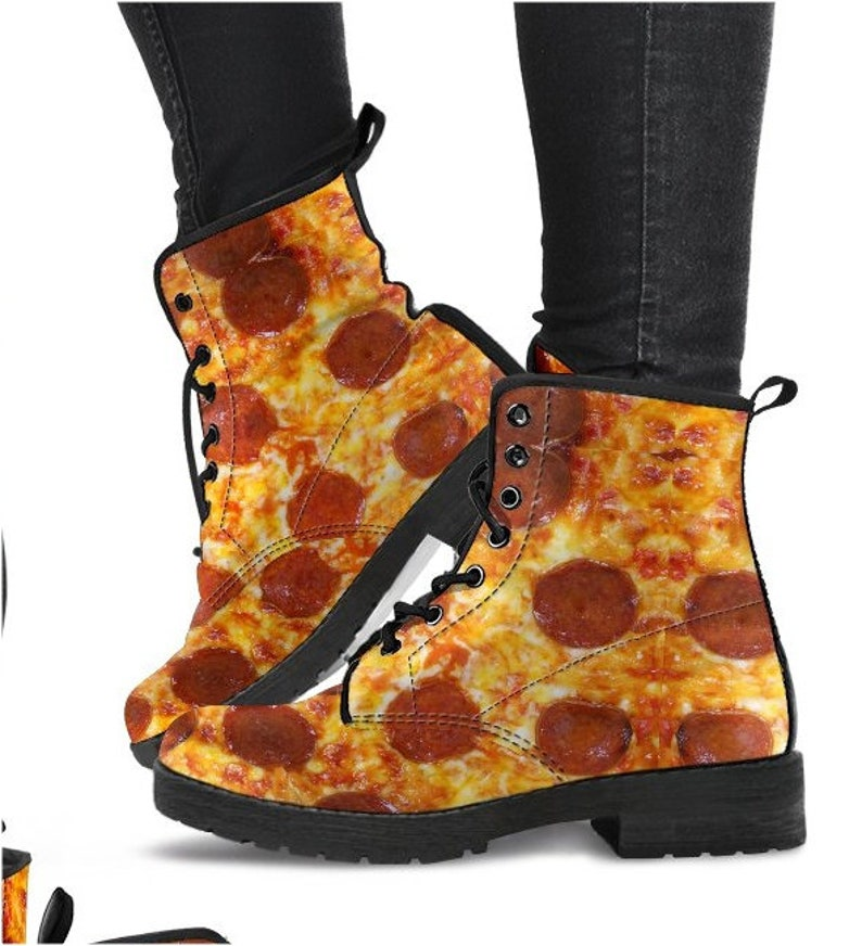Pizza Lover Boots Gag Gift Funny Shoes Funny Gift Humorous Etsy