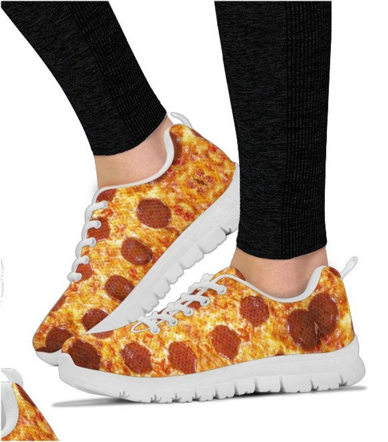 Pizza Lover Sneakers Gag Gift Funny Shoes Funny Gift Humorous Etsy