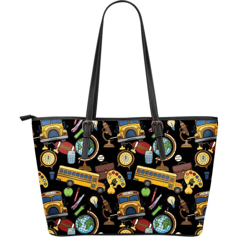 Gift For School Bus Driver Leather Tote Bag For School Bus Driver  Professional Bus Driver  School Driver  Responsible Bus Driver