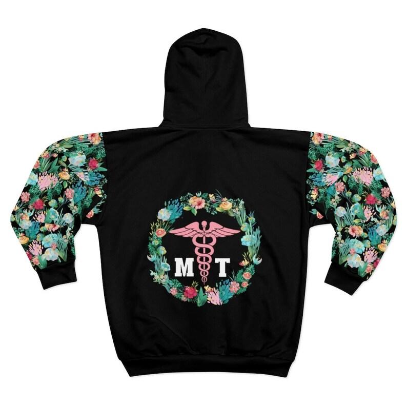 Tea Rose-PF434-D04 Massage Therapist Hoodie Zip Jacket Gift for Massage Therapists Massage Therapist Jacket