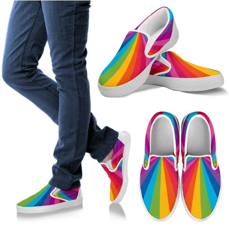85ee268392c70 Rainbow Gift Rainbow Slip On/ Rainbow Shoes - PP-HB-025