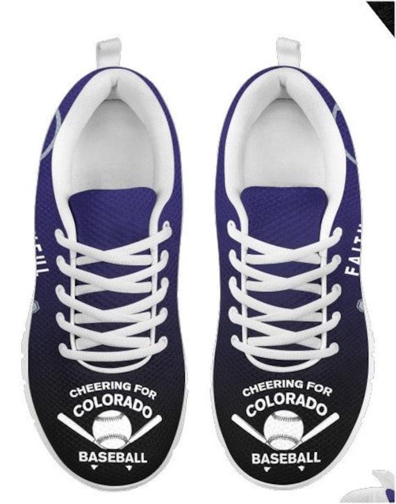 Walking PP HB Baseball Sneaker Fan Shoes 040A Colorado Rockies wBn6qSYIB