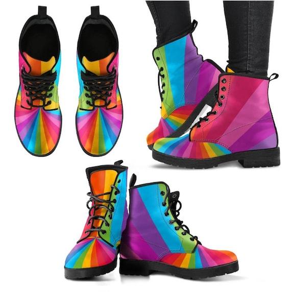 f01fbe9707bc3 Rainbow Gift Rainbow Boots/ Rainbow Shoes - PP-HB-025