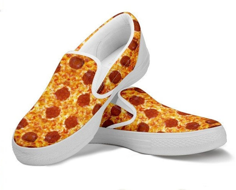 Pizza Lover Slip On Gag Gift Funny Shoes Funny Gift Humorous Etsy