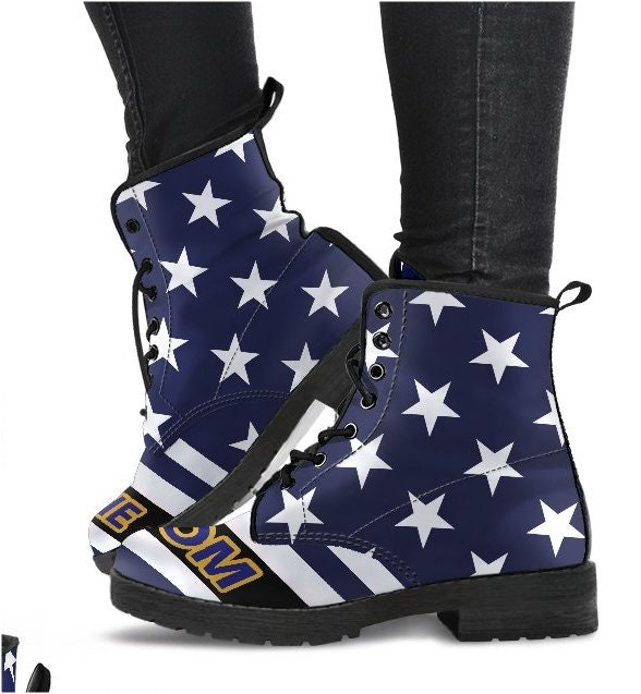 Marine Mom Boots Shoes Gift- US Flag Marine's Wife Gift- Shoes PP-HB-031 7b1d05