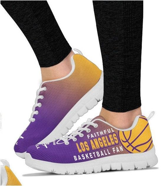 BK Angeles Los Sneakers Shoes 014A PP Walking HB Lakers Basketball Fan Uqdz7wq