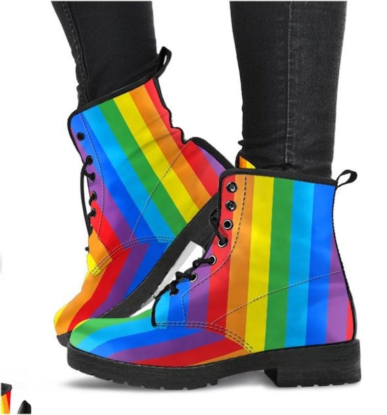 3056d281a2429 Rainbow Gift Rainbow Boots/ Rainbow Shoes - PP-HB-024