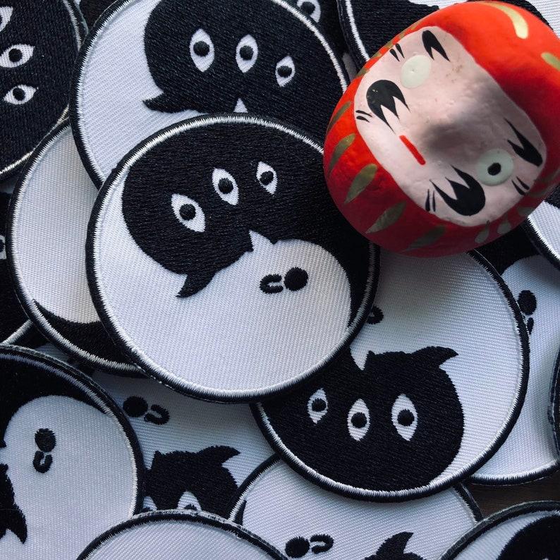 Sad Yin /& Yang Iron on Patch Oyasumi Punpun Patch