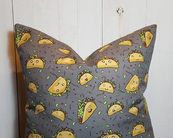 Taco Town, Pillow cover, Taco Pillow, Decorative Pillows, Throw Pillows, Home Decor, Decorative Pillow Covers Handmade