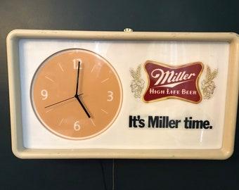 7429eb17d14 Vintage Beer Light Clock