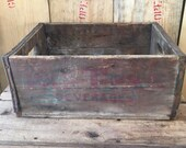 Vintage Nehi Par-T-Pak Crate, Wood Soda Crate, Rustic Storage Crate, Pop Crate