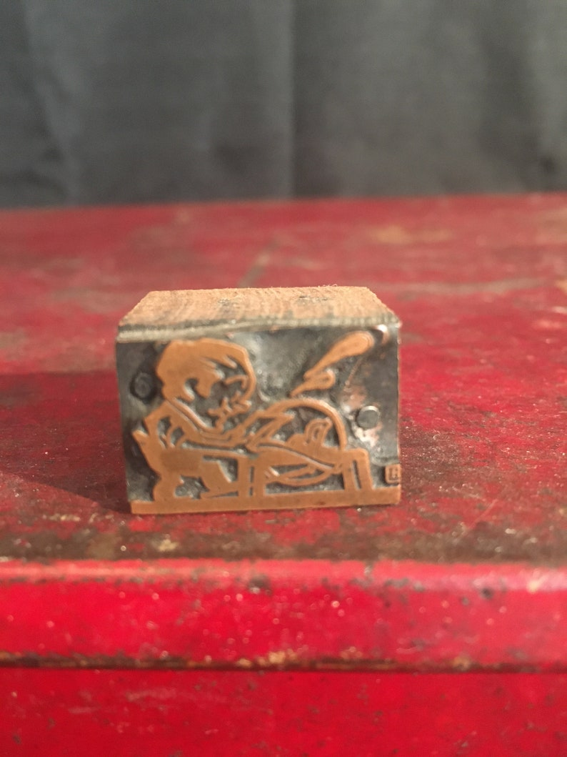 Letterpress Vintage Printer/'s Block