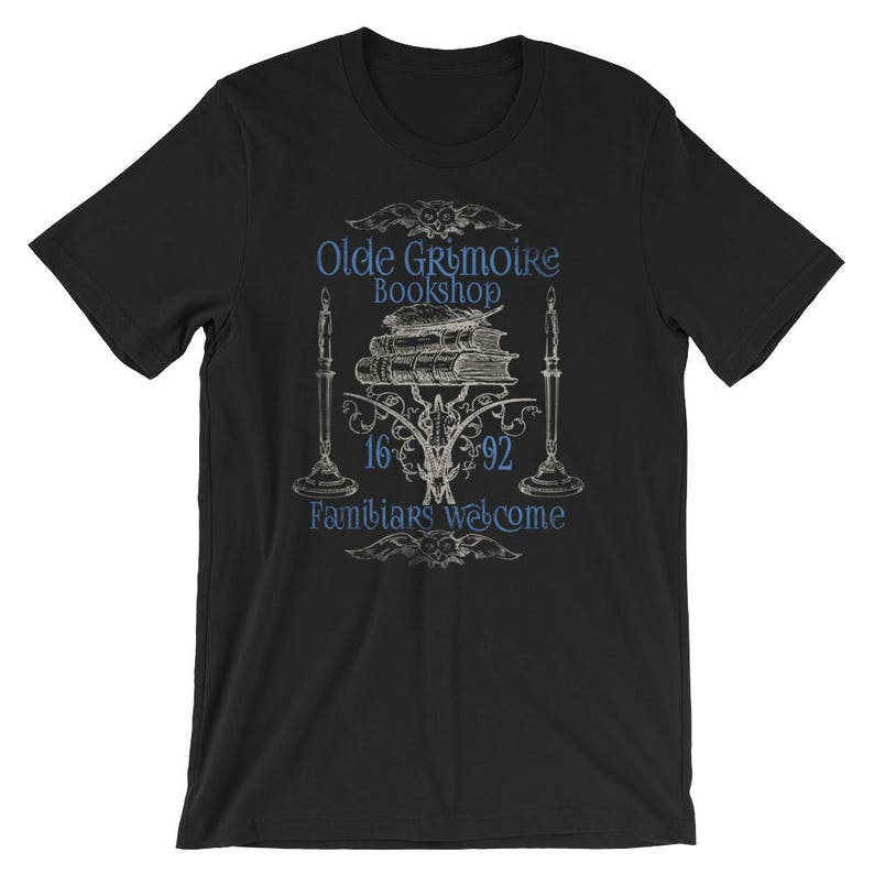 Wicca Witchcraft Pagan Book Shop T-Shirt Grimoire Gift Ideas For Wiccan  Witch Pagans Fun Vintage Style Design Casting Magic Spells Shirts
