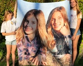 Peak Custom Photo Blanket Personalized With A Photo, Logo Or Design. Comfy Picture Blanket Also Great For Picnics And Beach. Free Shipping