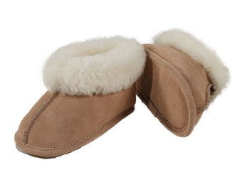 315bba2675b Geniune Sheepskin Soft Sole Baby Booties (Slippers) - Cozy and Warm
