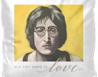 John Lennon Plush Pillow - All You Need is Love