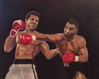 Clash of the Titans 20x24 inches. Oil on Canvas