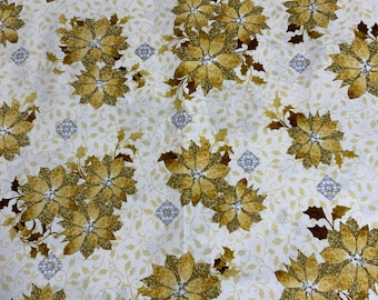 Poinsettia, Christmas, 3 Yards, By Laurie Cook from Quilting Treasures