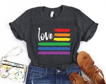9b991d7d2 Love Gay Pride / Unisex Shirt / Love is Love / Gay Pride / LGBT Shirt /  LGBTQ Pride Shirt / Rainbow Shirt / Rainbow Flag / Equality Equal