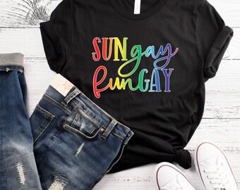 Sungay Fungay Gay Pride Shirt Funny Gay Pride Lesbian Tshirt Pride Shirt LGBT Shirt Gay Pride Tshirt Gay Pride Gift LGBT Pride Tshirt
