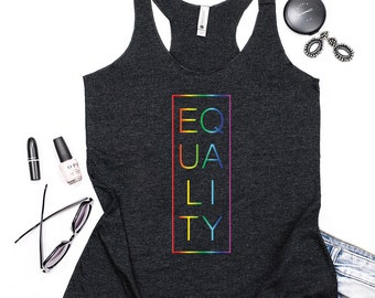 Pride Equality Tank Top Gender Equality Shirt Feminist Tank Tank Top LGBT Pride Racer Back Tank Top Lesbian Pride Shirt Gay Pride Shirt