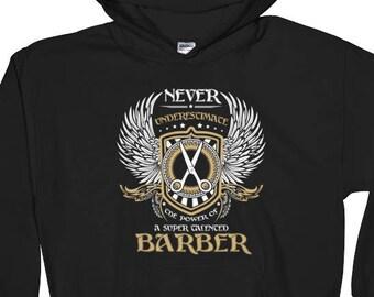 Barber Hoodie - Barber Hooded Sweatshirt - Barber Gifts - barber gift - barber shop - barber shirt - gift for barber