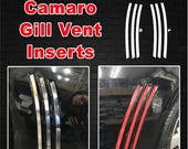Will Fit Chevrolet Camaro 2010 - 2015 Side Gill Vent Inserts Thick Inlays Vinyl Decals Camaro Stripes 2010 2011 2012 2013 2014 2015