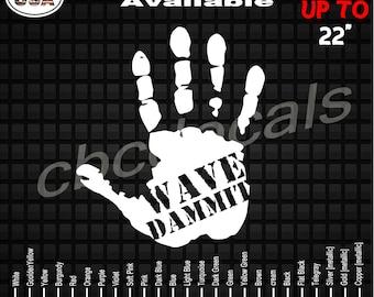 5 x 4.74, orager Jeep Wave Hand Sticker Vinyl Decals Jeep Wrangler cj jk wj All 2 Pair