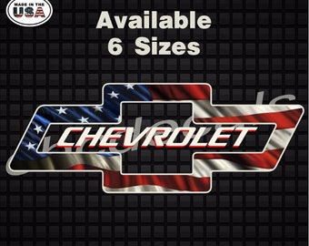 199e919b43 Chevrolet American Flag Vehicle Decal Sticker