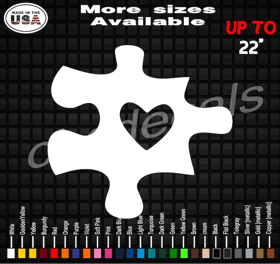 Autism Puzzle Piece Vinyl Decal Sticker Autism Decals Autism Stickers
