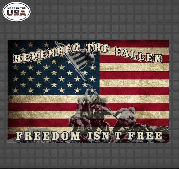 Veteran/'s Day Freedom Isn/'t Free Vinyl Sticker Decal Military Army