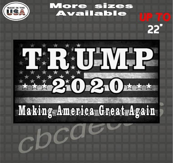 Trump 2020 Distressed Flag Decal Sticker Patriotic American