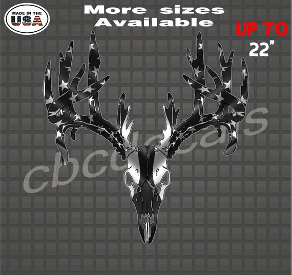 Deer Skull vinyl car Decal Sticker
