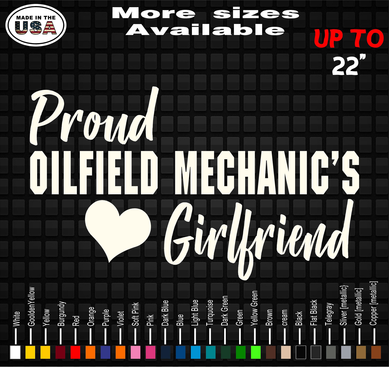 Oilfield Wifey vinyl decal//sticker truck car window roughneck