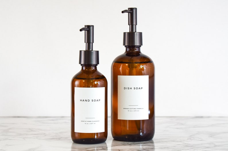 Clean-Modern Soap and Personal Care Labels  Water and Oil image 1